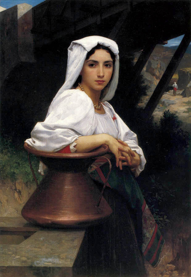 Option 1, Bouguereau, 'Girl With Pot'