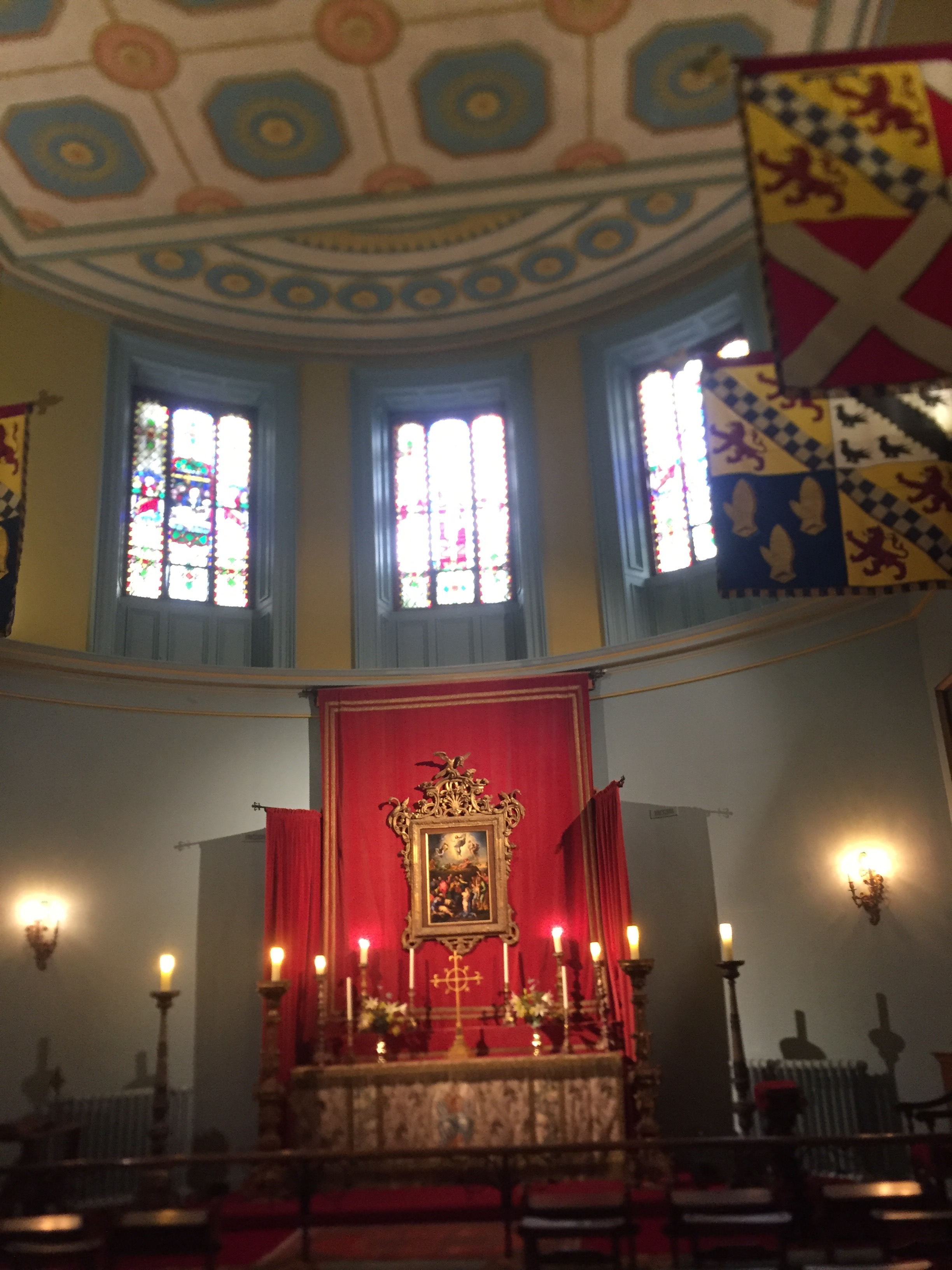 - The family chapel with beautiful painted ceiling.