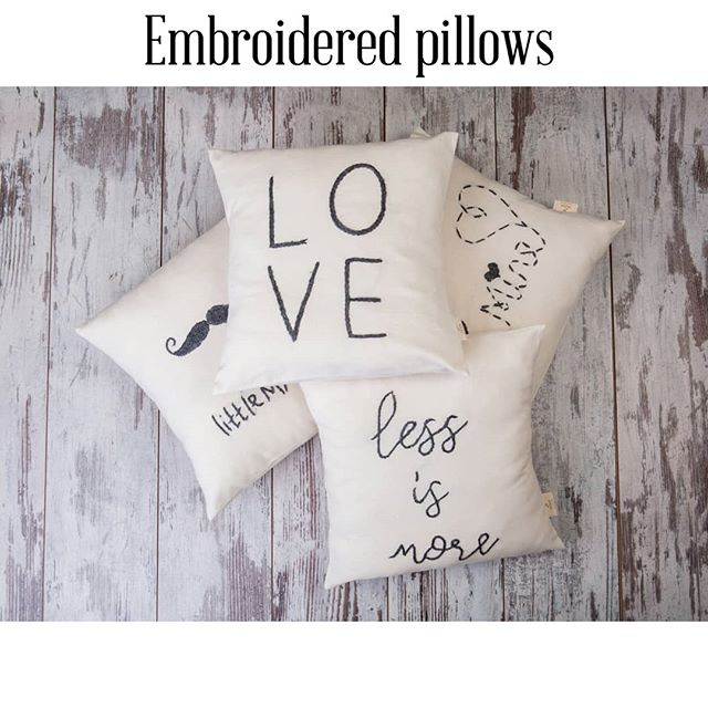 Embroidered pillows on 100 %cotton . . . #munahome #pillowtalk #pillowlove #kissenliebe #kissen #kinderzimmer #kidscushion #kidsroomideas #throwpillow #lumbarpillow