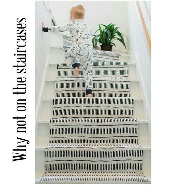 We always consider a beautiful rug the soul of the room, so why not bring a little life to the staircase you walk up and down every day. . . . #munahome #woolrug #handwoven #ecofriendly #sustainableliving #slowdesign #treppen #staircase #staurcaserunning #staircaserunner #treppenteppich #kilimrug #kilim #kilimteppich #blackandwhite #customdesignerug #monochromedecor #softrug #softwoolrug #embroidery #ecofriendlyrug