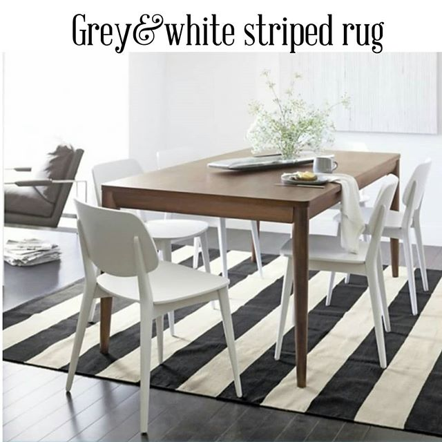 Also unser the table classic stripes never disappoint! One of the most popular color combos when it comes to stripes: grey abd white. . . . #munahome #woolrug #handwoven #ecofriendly #sustainableliving #slowdesign #rugsundertable #esstischteppiche #stripes #stripesstrikeback #gestreifterteppich #alfombrasrayadas #greyandwhite #softrug #patternedrugs #tapetti #alfombrasdelana #wollteppich #grauweiss #grigioebianco #grisyblanco #sustainableliving #slowdesign #homedecor #washablerugs #rugsforlife #ethicalliving