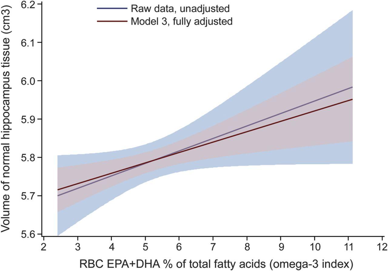 Ômega-3 diminui o risco de grandes reduções no tamanho do cérebro e previne o declínio cognitivo associado ao envelhecimento (Tan et al., 2012; Witte et al., 2014).