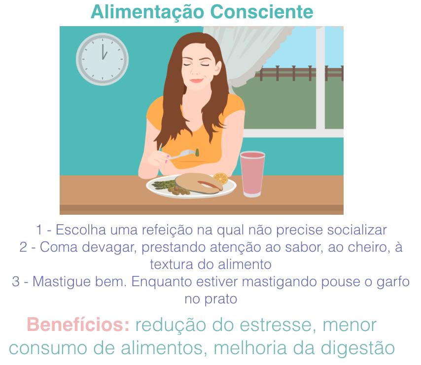 Quer saber mais sobre este assunto? Aproveite o desconto no curso online clicando no link em azul :  Alimentação consciente  .