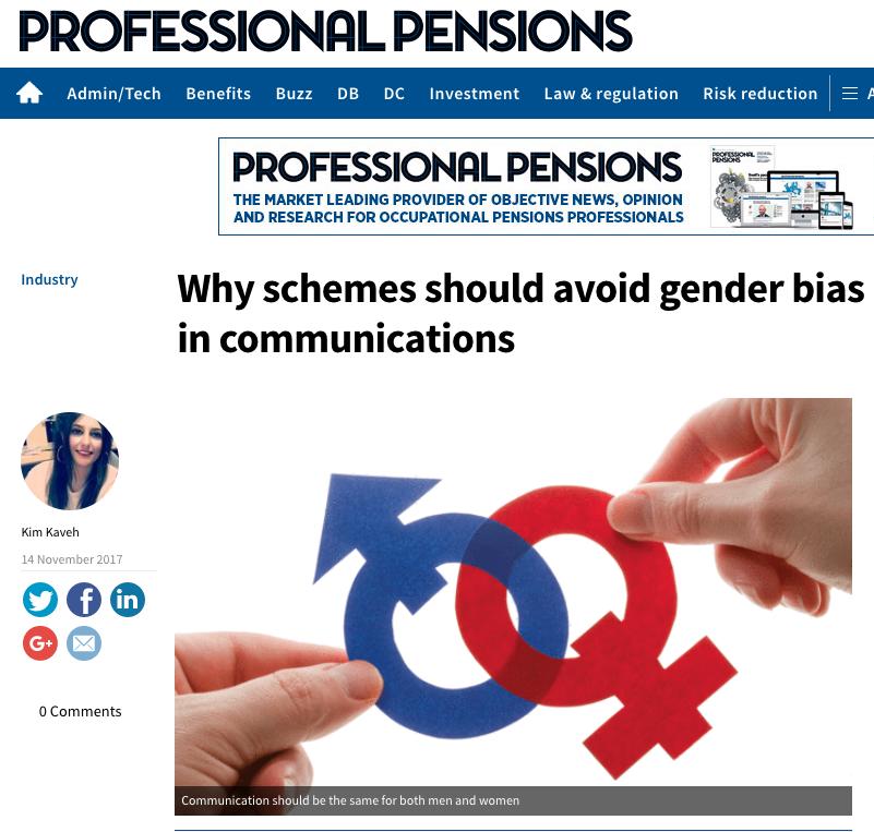 Gender bias in Pension Communication