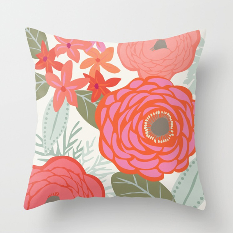 Bloom printed pillow