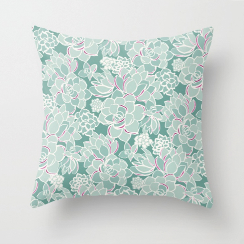 Succulents printed pillow