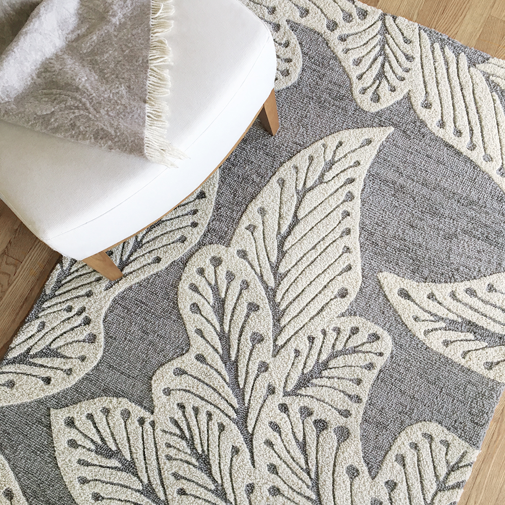 eye heart hand 'leaf' rug