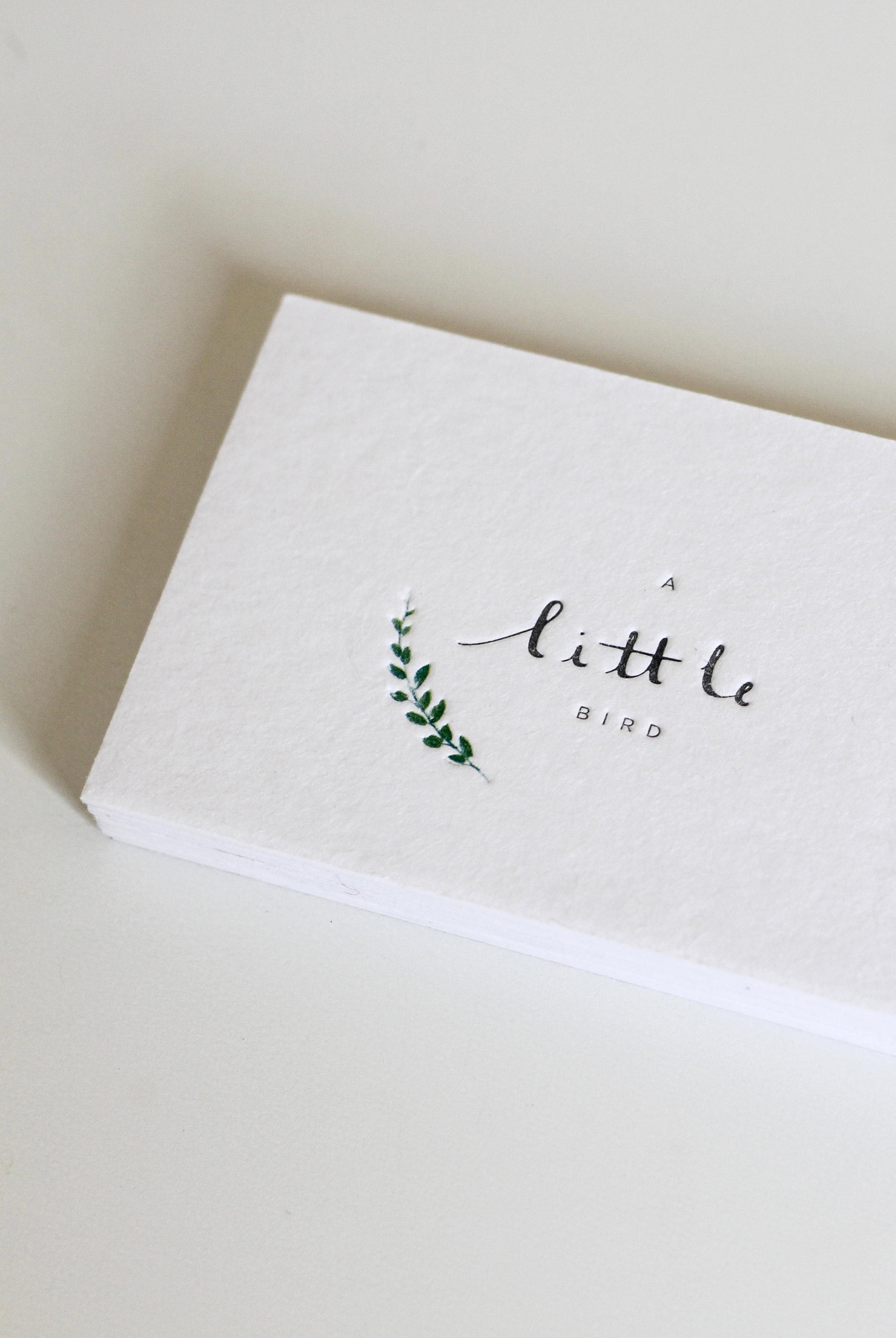 A Little bird/ branding & print design