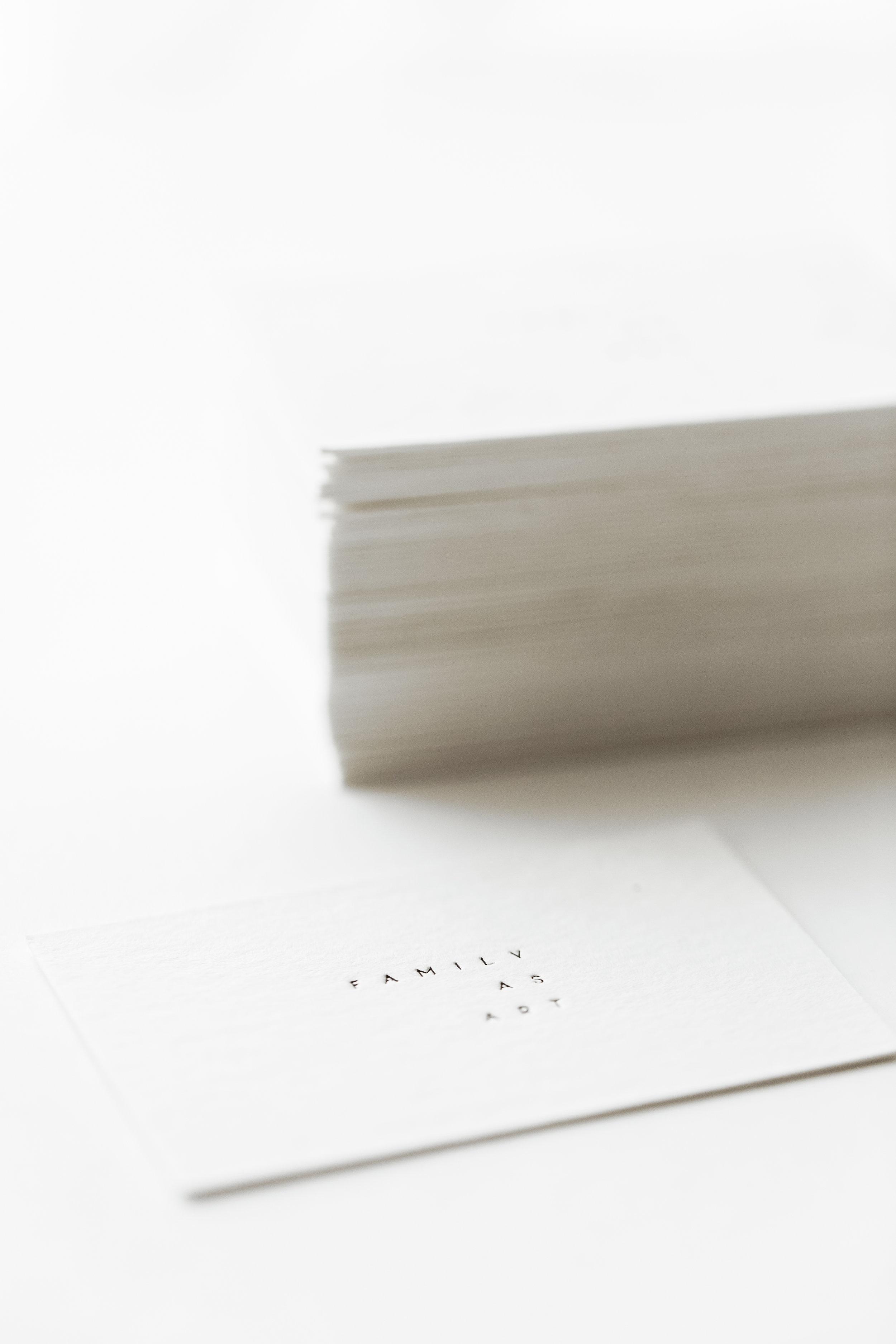 family as art/ branding & print design