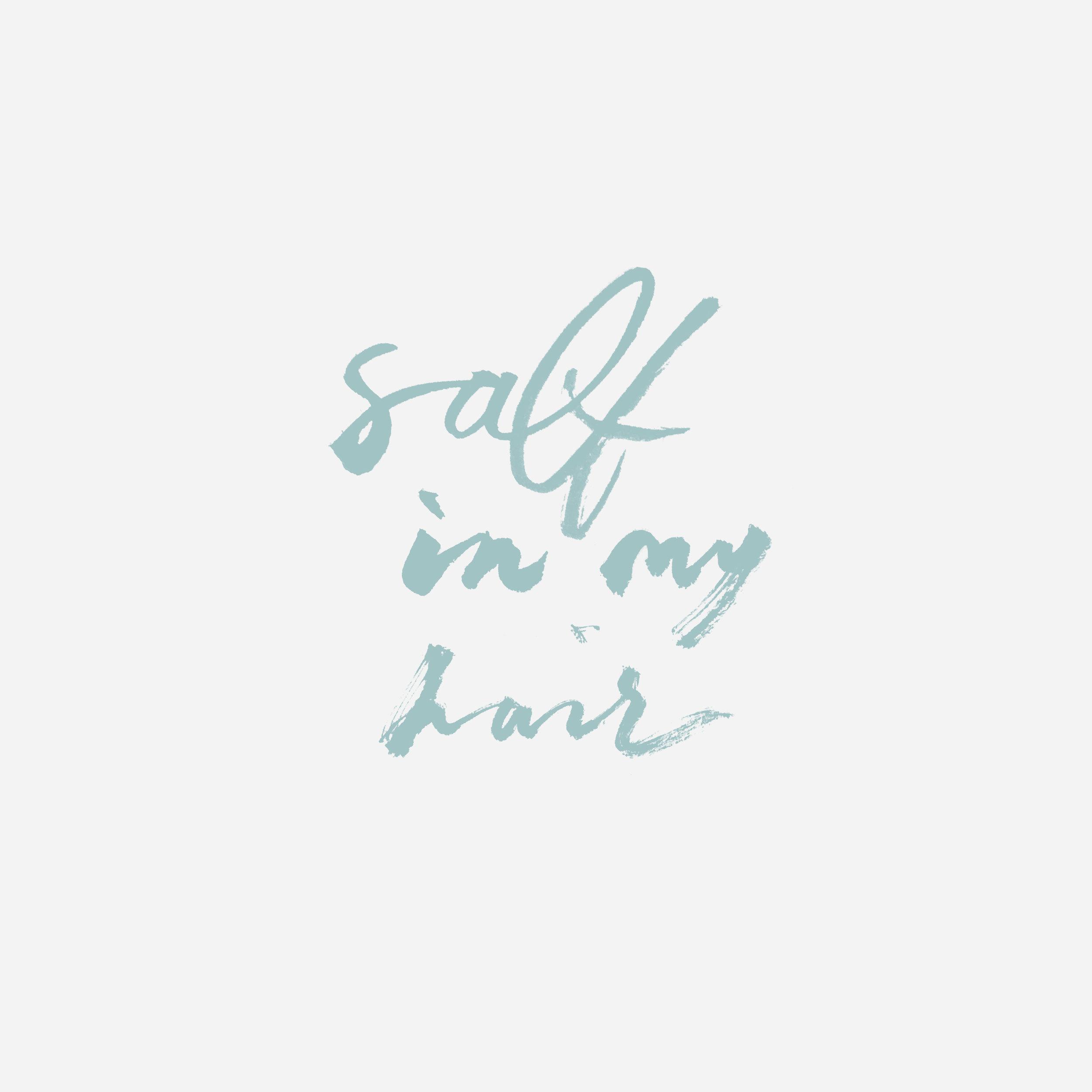 Salt Lettering by Belinda Love Lee