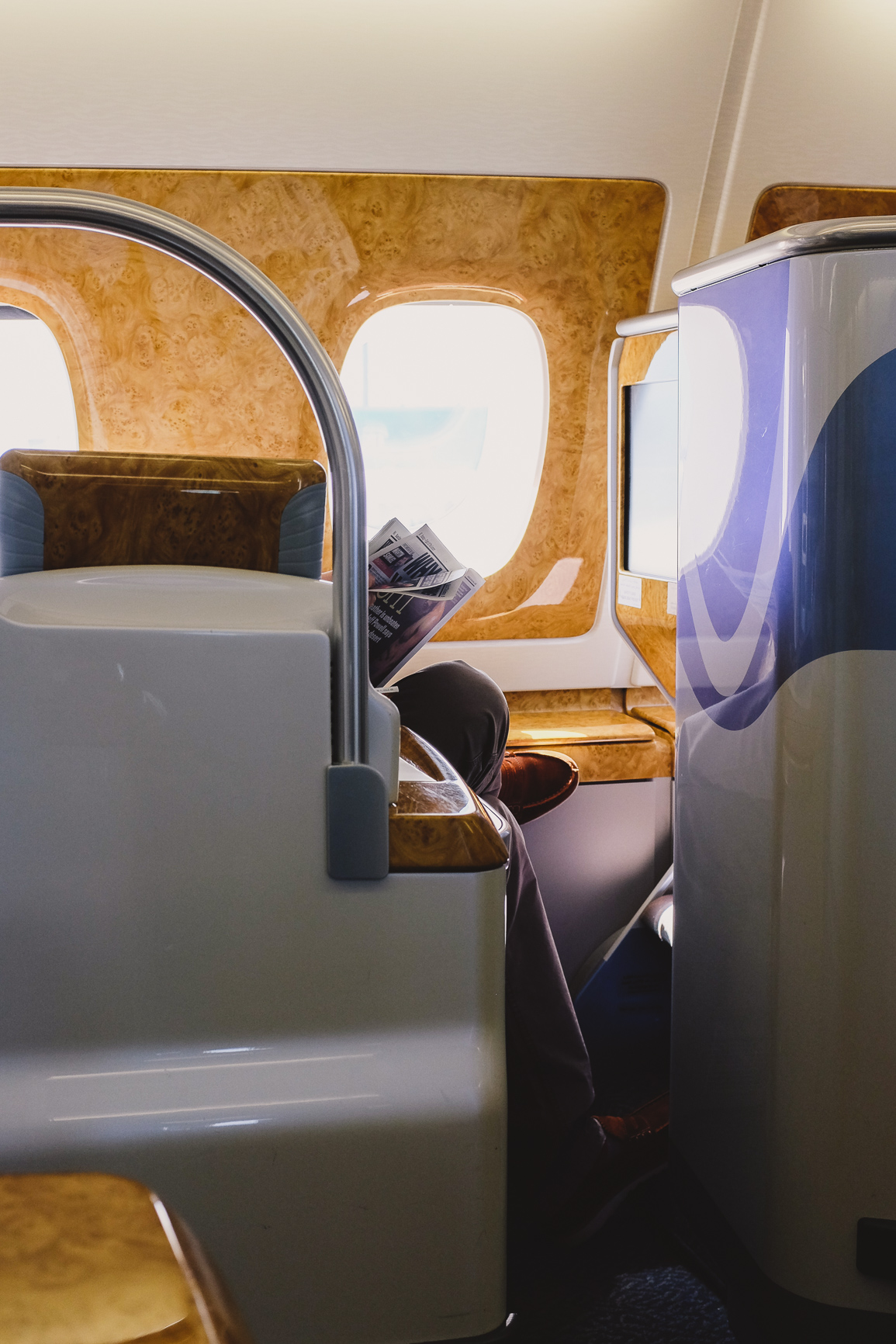 Business Class Emirates - The A380 window seat