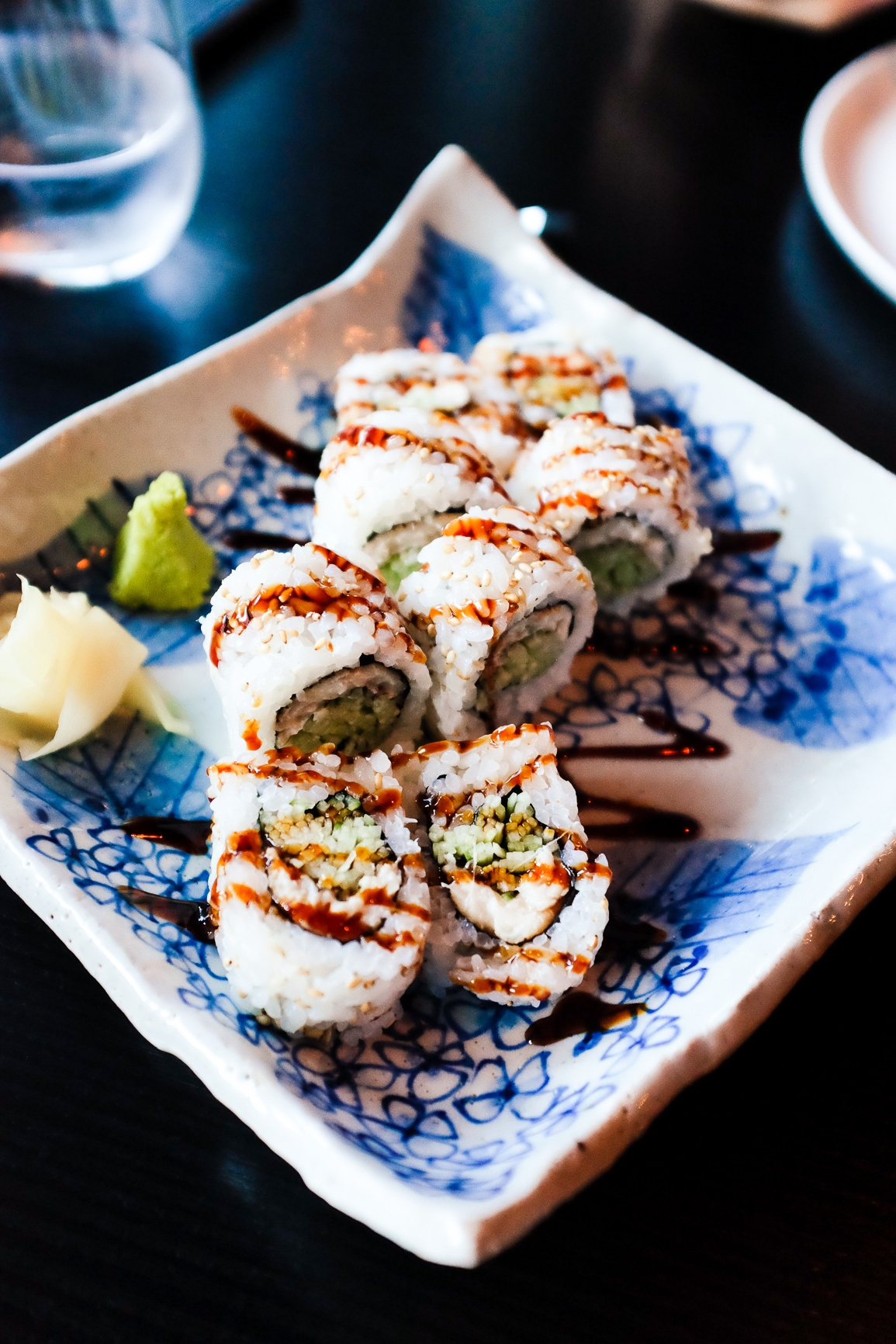 Conger Eel and Cucumber Roll ($15)