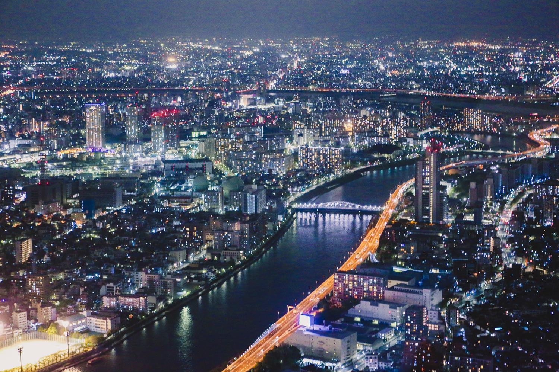 view from tokyo sky tree sumida tokyo japan night city lights
