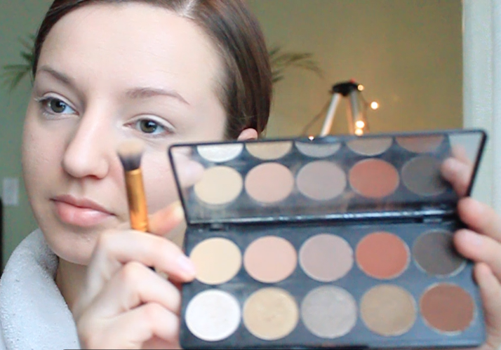 Step 1) Pick your favorite eye-shadow palette! I'm using Motives Demure Palette.