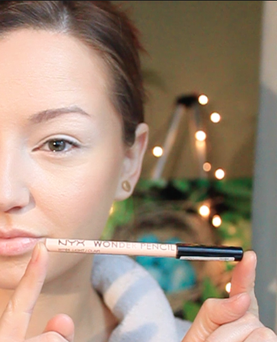 Step 2) Cover the waterline with NYX wonder pencil concealer