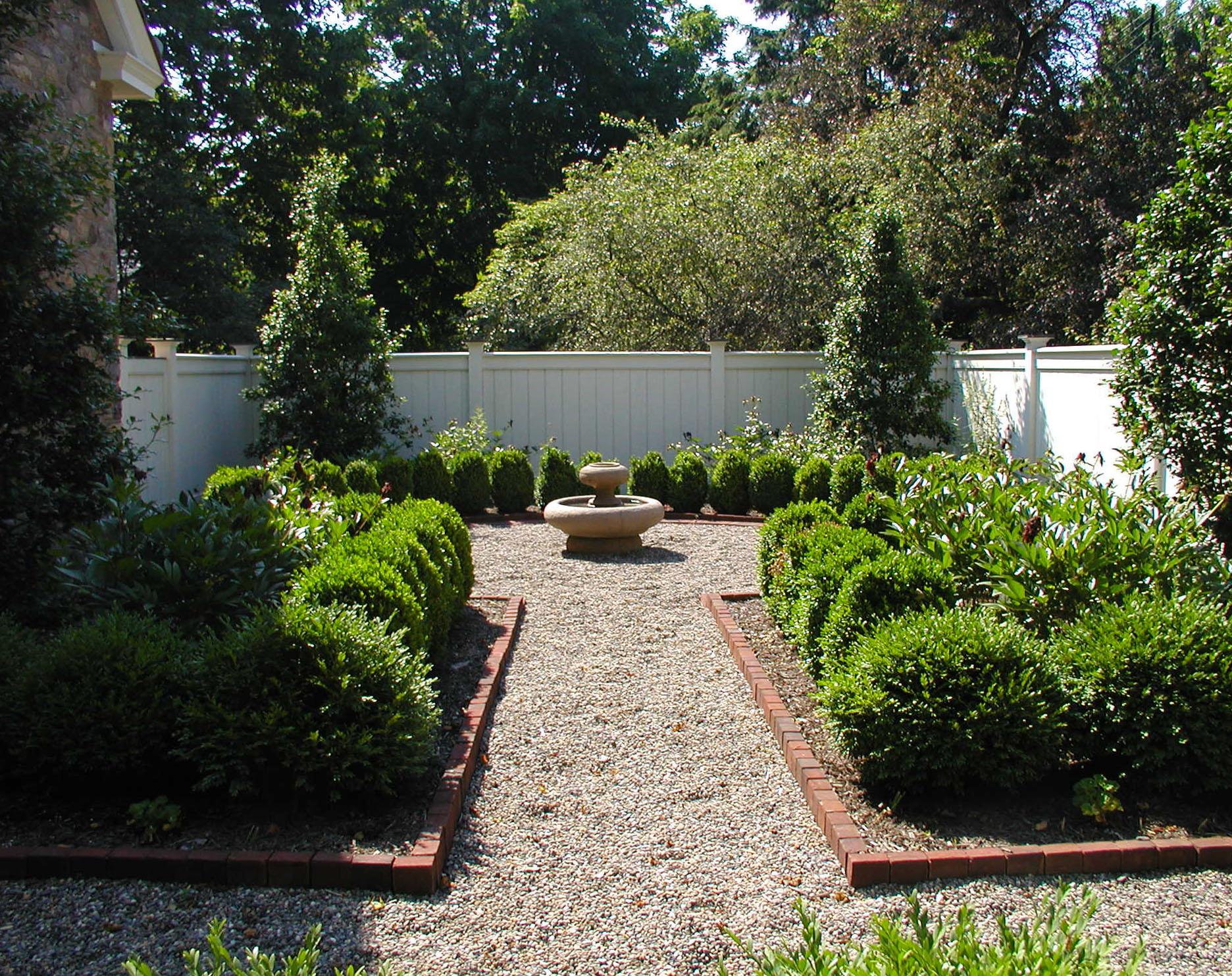fountain courtyard path