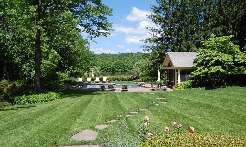 lakeside pool landscape design