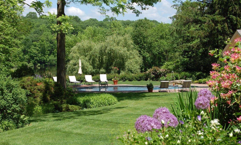 poolside lawn garden design