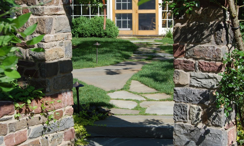 stone entrance walkway