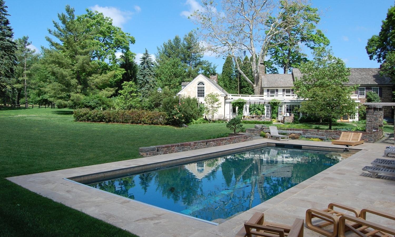 lap pool patio area