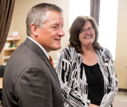 Congressman Westerman and Beverly Quillin, SSS Resource Center Director