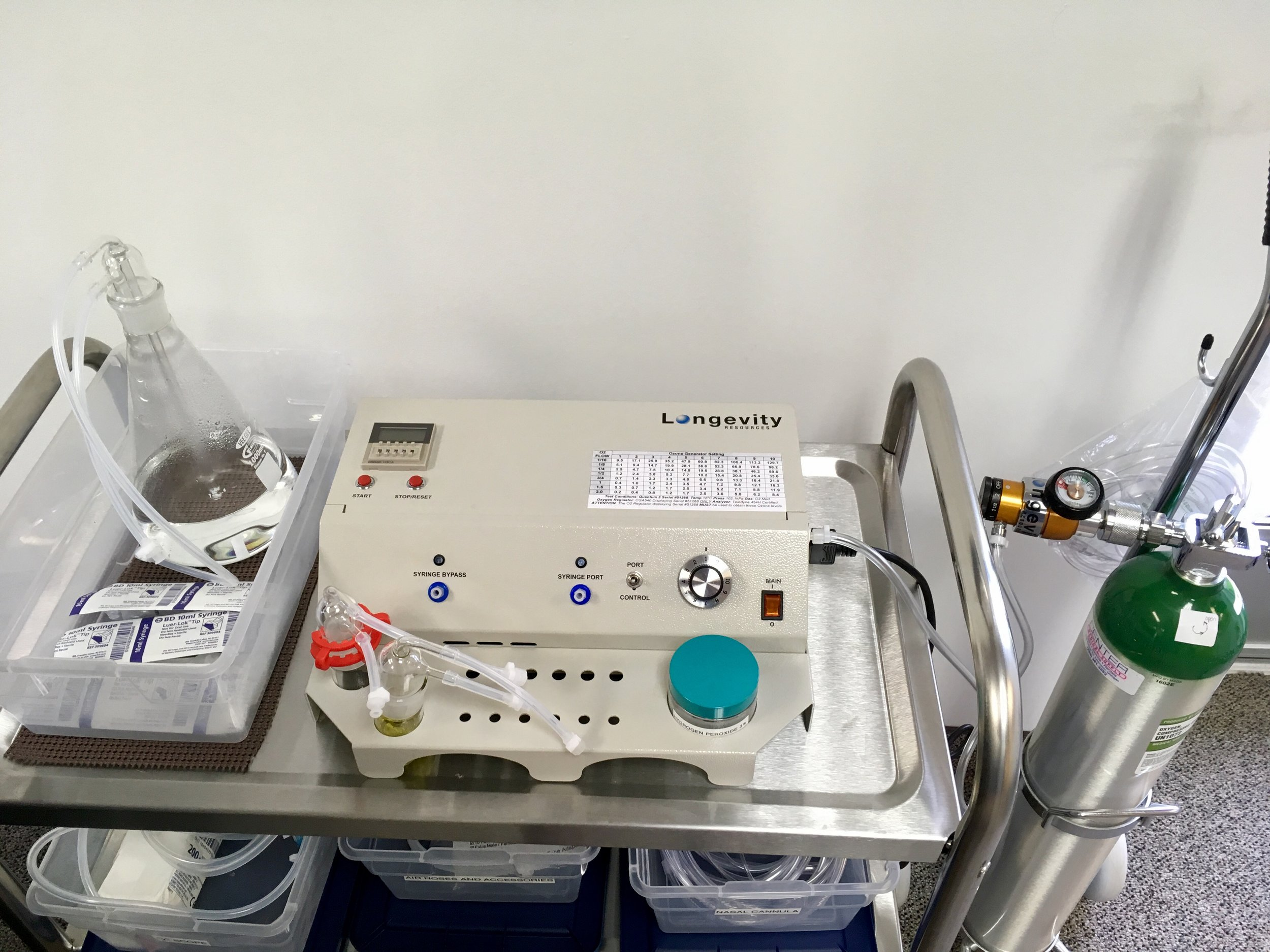 In medical use, ozone is made from pure oxygen with an ozone generator and the gas is administered in precise therapeutic doses.