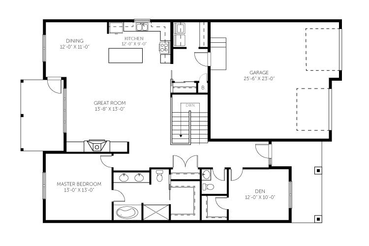 Creekbend Hollow 1700 Square Foot Floor Plan