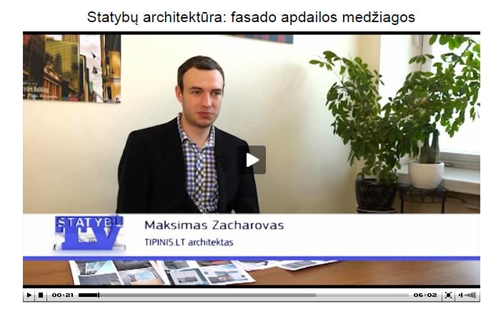 """Maksimas Zacharovas per """"Statybų TV"""""""
