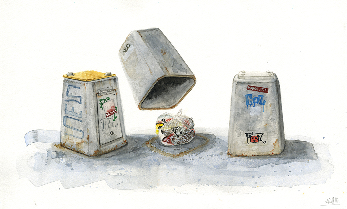 """""""A con's game""""  2014  Watercolor on paper  18""""x24""""  Available"""