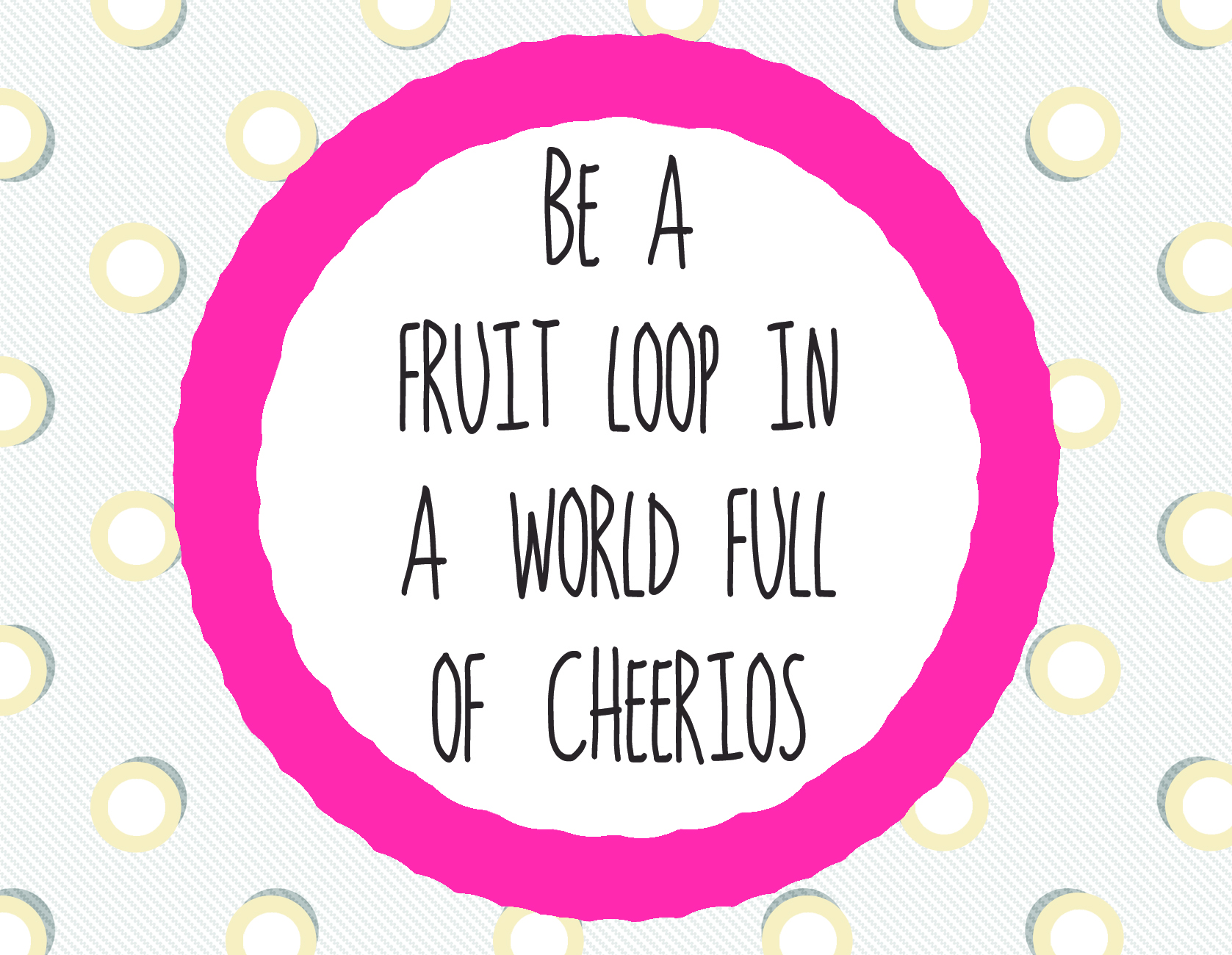 Be a Fruit Loop Postcard