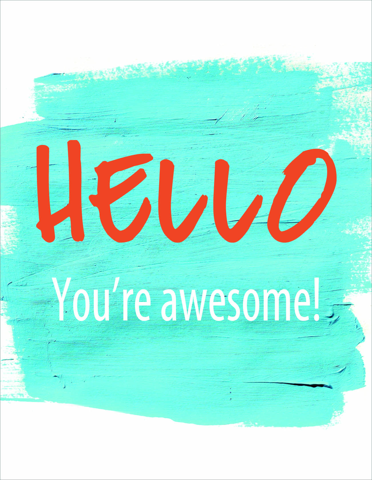 Hello, You're Awesome! Postcard