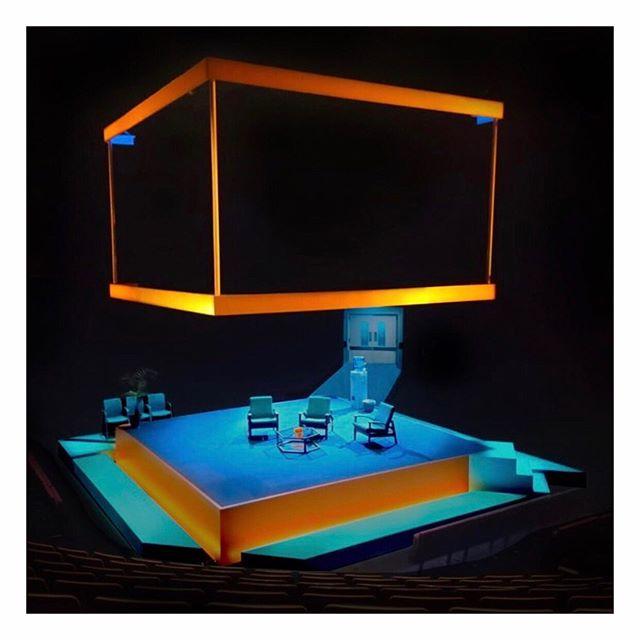 Blue/Orange / Production / 📷 Azusa Ono / 💡 Azusa Ono / 2019 #setdesign #setdesigner #rehearsal #theatre #theatredesign #theatredesigner #joepenhall #stage #productiondesign