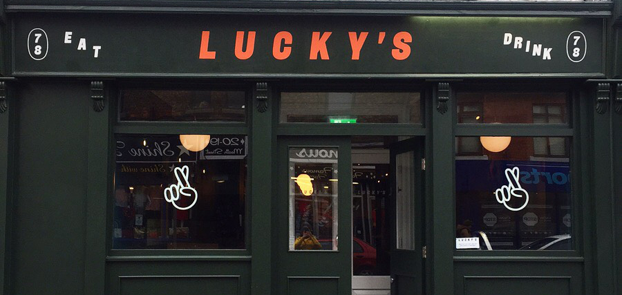LUCKYS PUB. Meath Street. Design: Work by Post