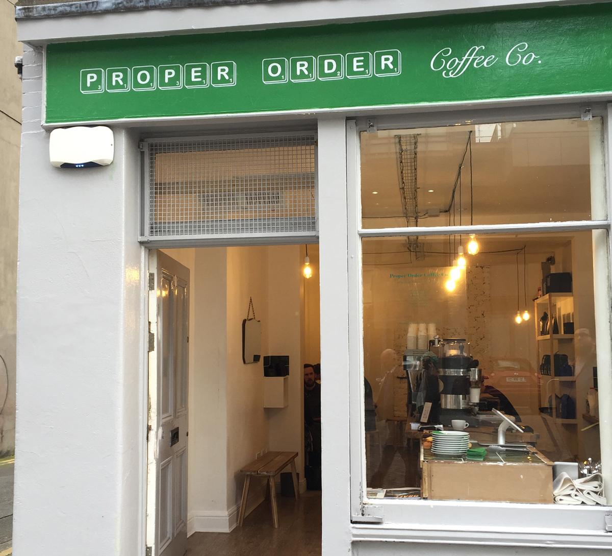 PROPER ORDER COFFEE CO, Smithfield, Dublin. Design Proper Order.
