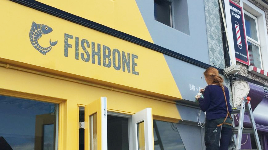 FISHBONE, Clontarf, Dublin. Design Leonie Henson.