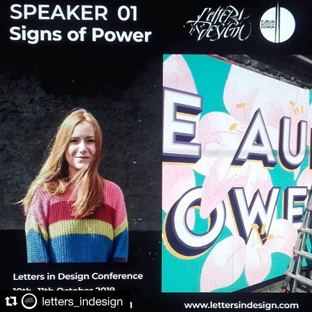 Delighted to be talking at Letters in Design Conference 2019 @letters_indesign at the Chocolate Factory Oct 10-11th. There'll be 9 local and International lettering artists who will be speaking and sharing their creative journey. There's workshops on as well. Check out @letters_indesign for full details. See you there! #signpainting #Signpainter #signwriter #calligraphy #dublinartists #dublineventguide #discoverdublin #irishstreetart #dublin  #Ireland #creativefestival #dublinevents #dublintypography #artevents #letters_indesign #goodtype #irishcalligraphy #irishgraffiti