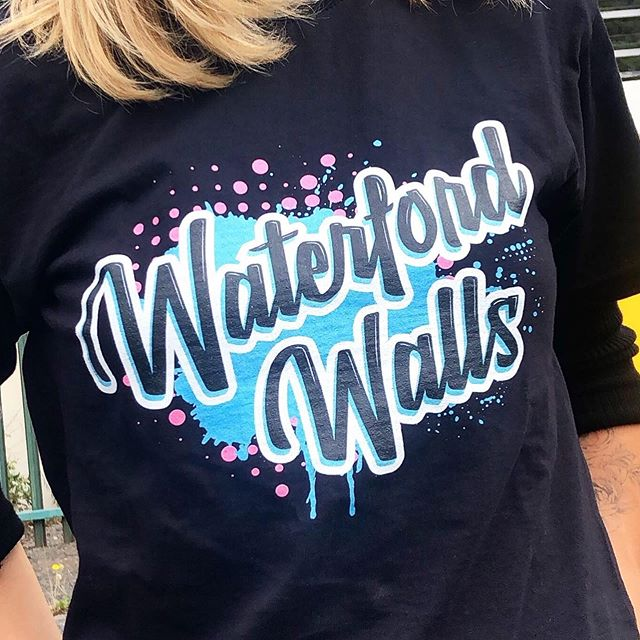 Nice to see the @waterfordwalls logotype I designed for this years festival on all the merch over the weekend. I did the lettering they added the background. @waterfordwalls is Ireland's largest street art festival. Over the past 5 years they've transformed the whole city. Really worth visiting Waterford to check out all the amazing art. Amazing all the work the @walls.project Have put into it. Delighted to be part of it all amongst some of my favorite Irish and International artists. #waterfordwalls #waterfordwalls2019 #handlettering #lettering #handdrawntype #brushlettering #tovector #type #logo #logtype #design #branding #signsofpower