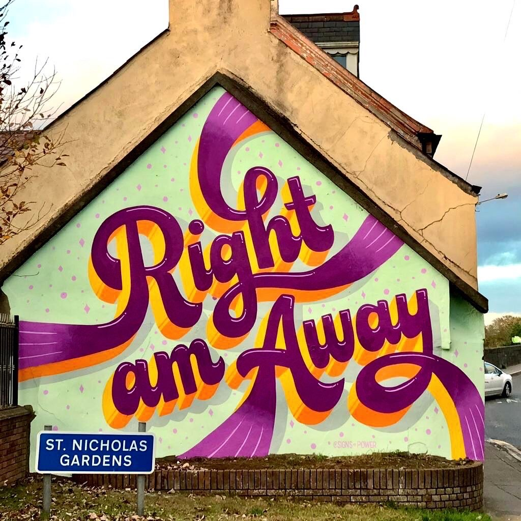 WALLS — Sign Painter Vanessa Power - Dublin, Ireland