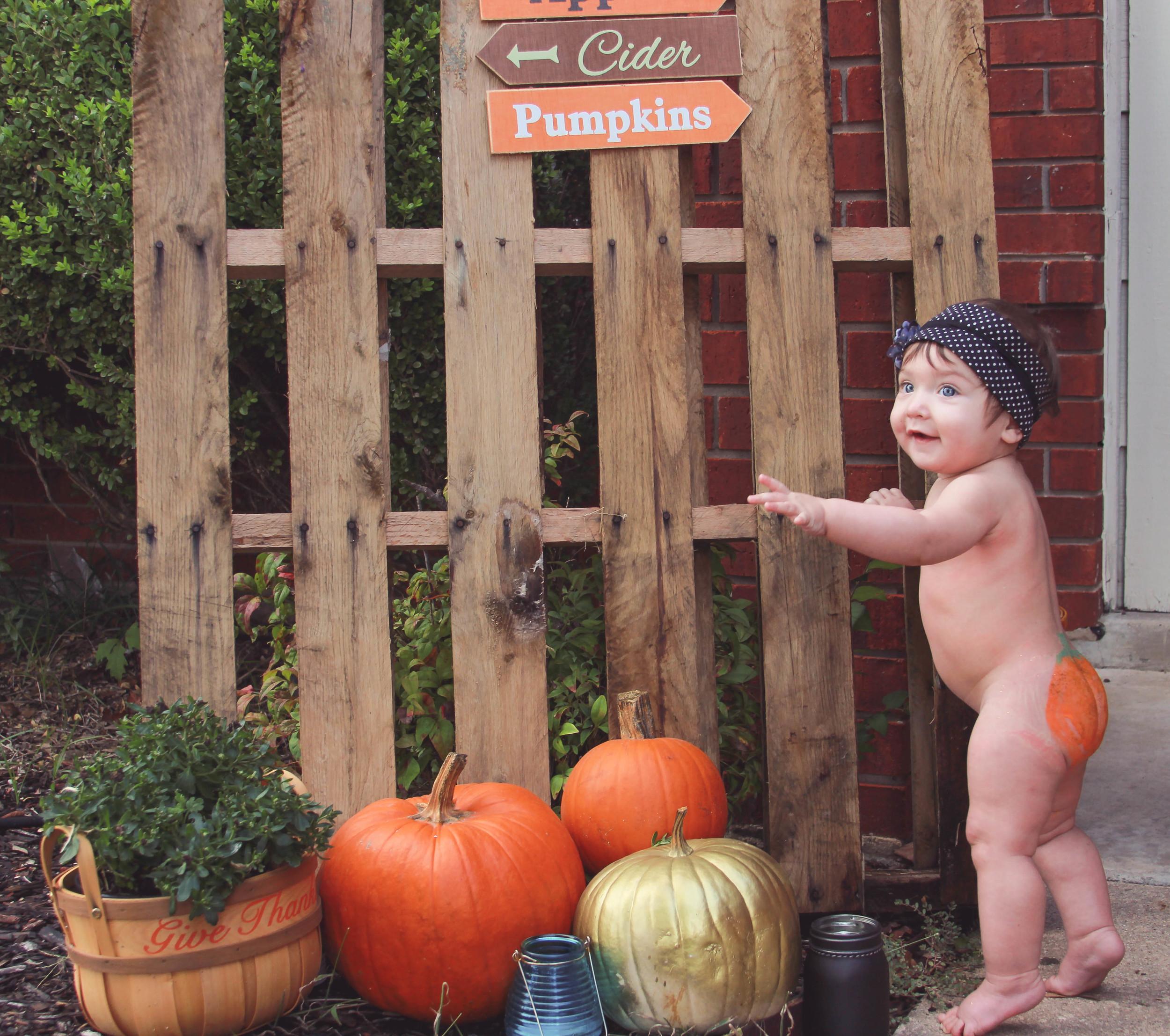 Fun Fall Pumpkin Session at Clients home.