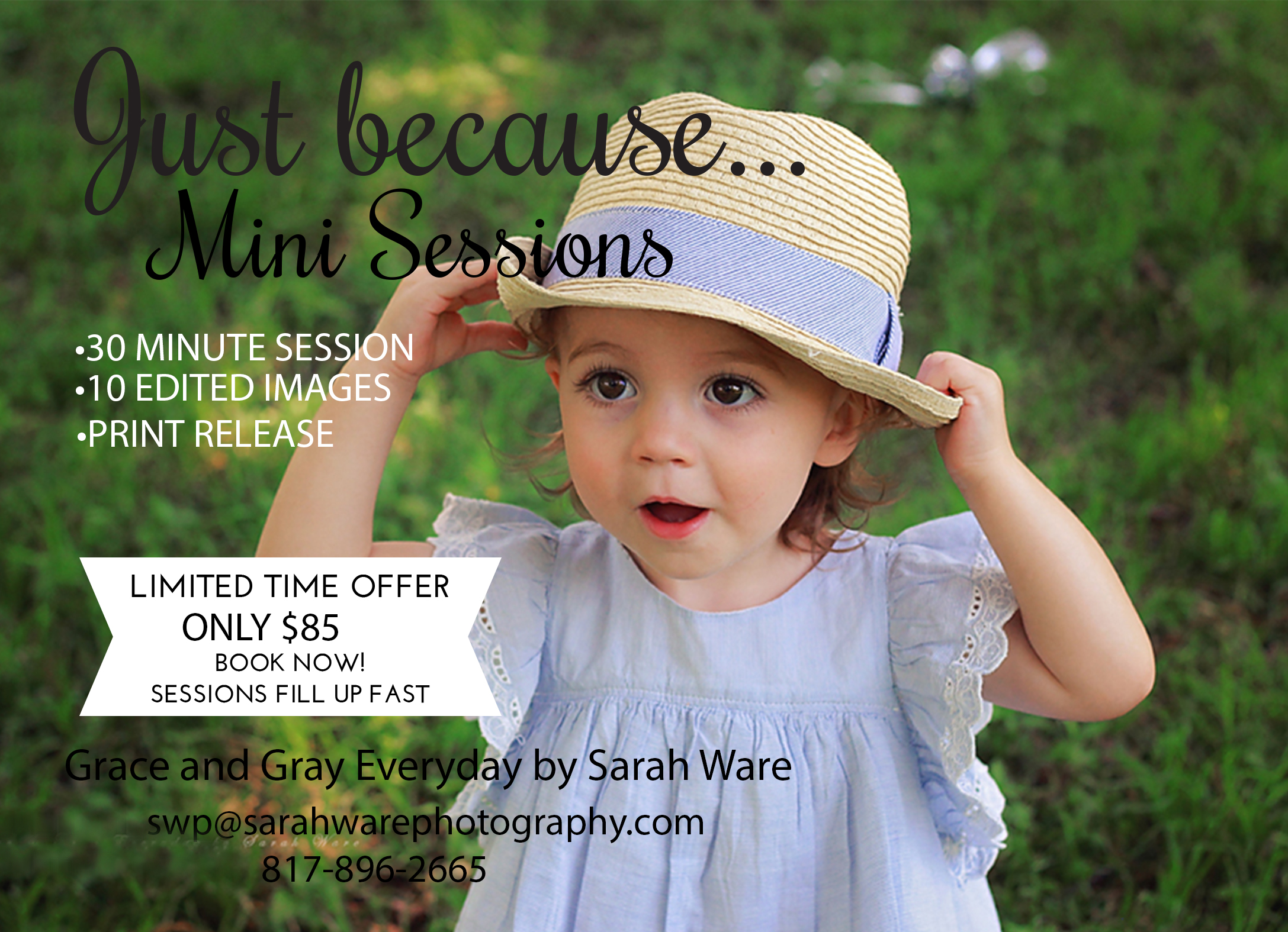 Mini Sessions are perfect for milestone photos!
