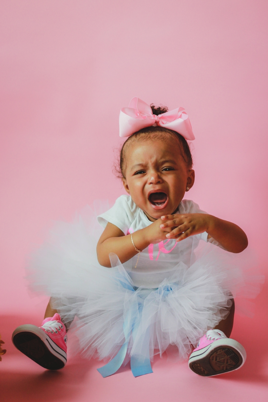 Little Girls Pink First Birthday Session