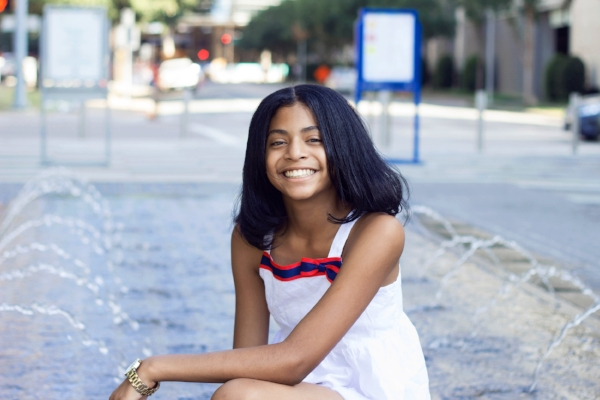 Tween session shot in Downtown Dallas.