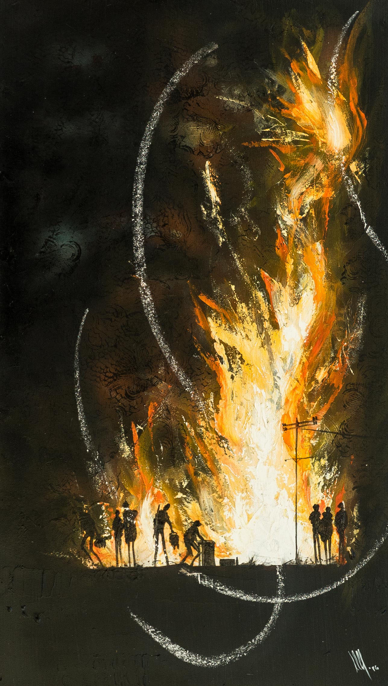 Flamme  50 x 85 cms.
