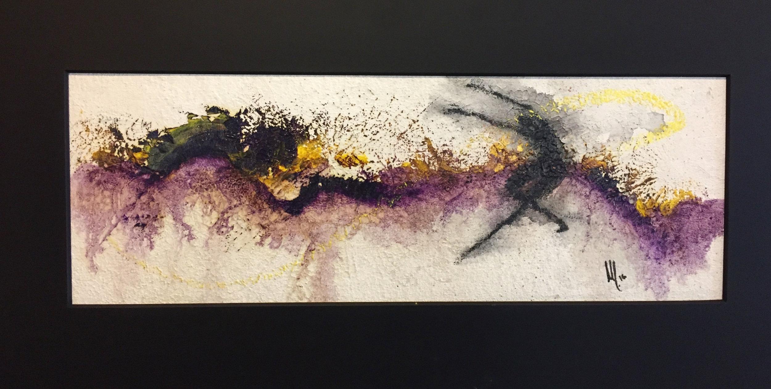Púrpura  17 x 50 cms.