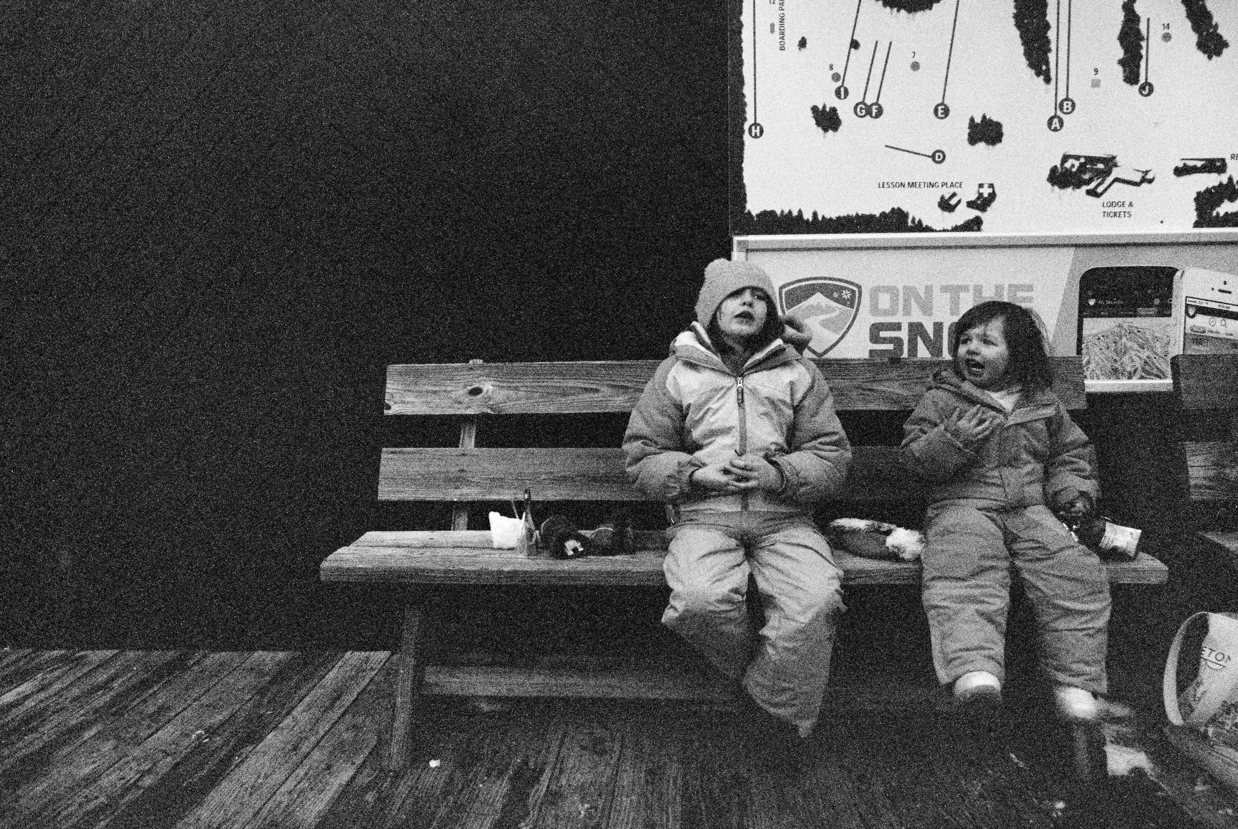 Snacking & Skiing (Canon 1v :: TriX 400 @ 1600)   24/366