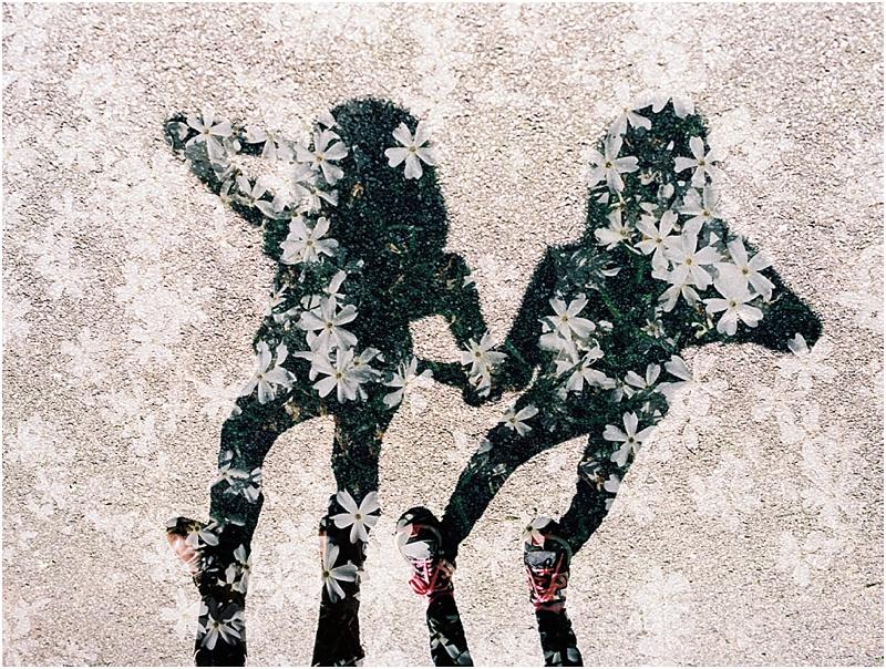 Sister Shadows Double Exposure (Pentax 645n :: Ektar 100)   126/366