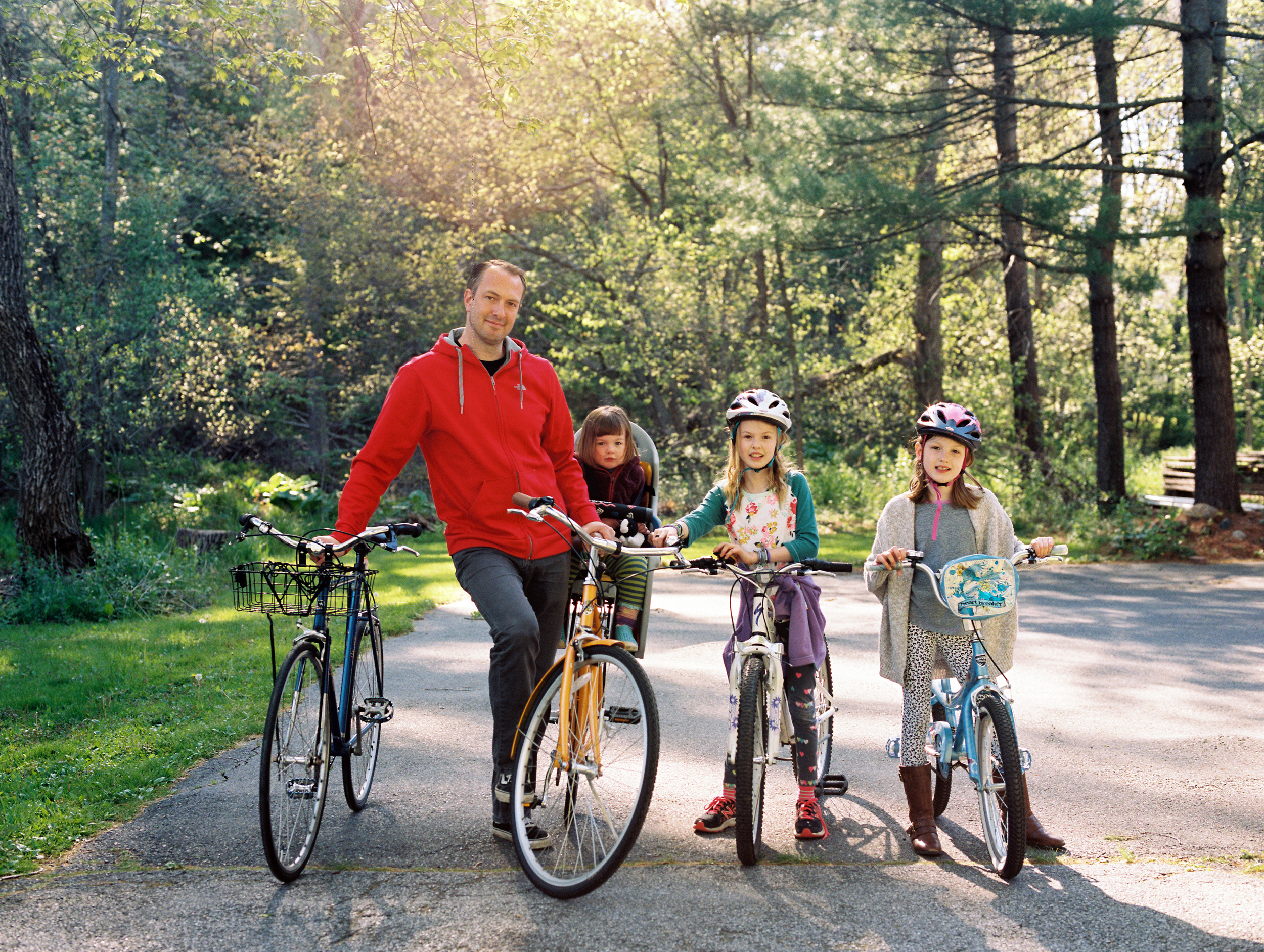 First Family Bike Ride (Pentax 645n :: Ektar)   138/366