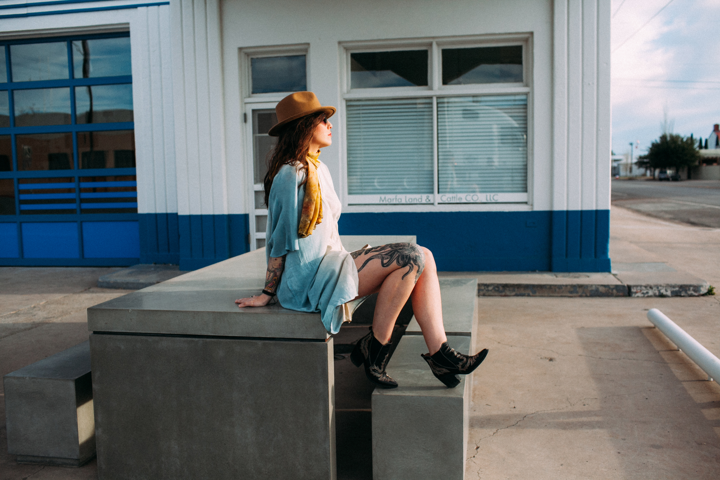 Marfa Downtown Fashion Photoshoot by The Finches