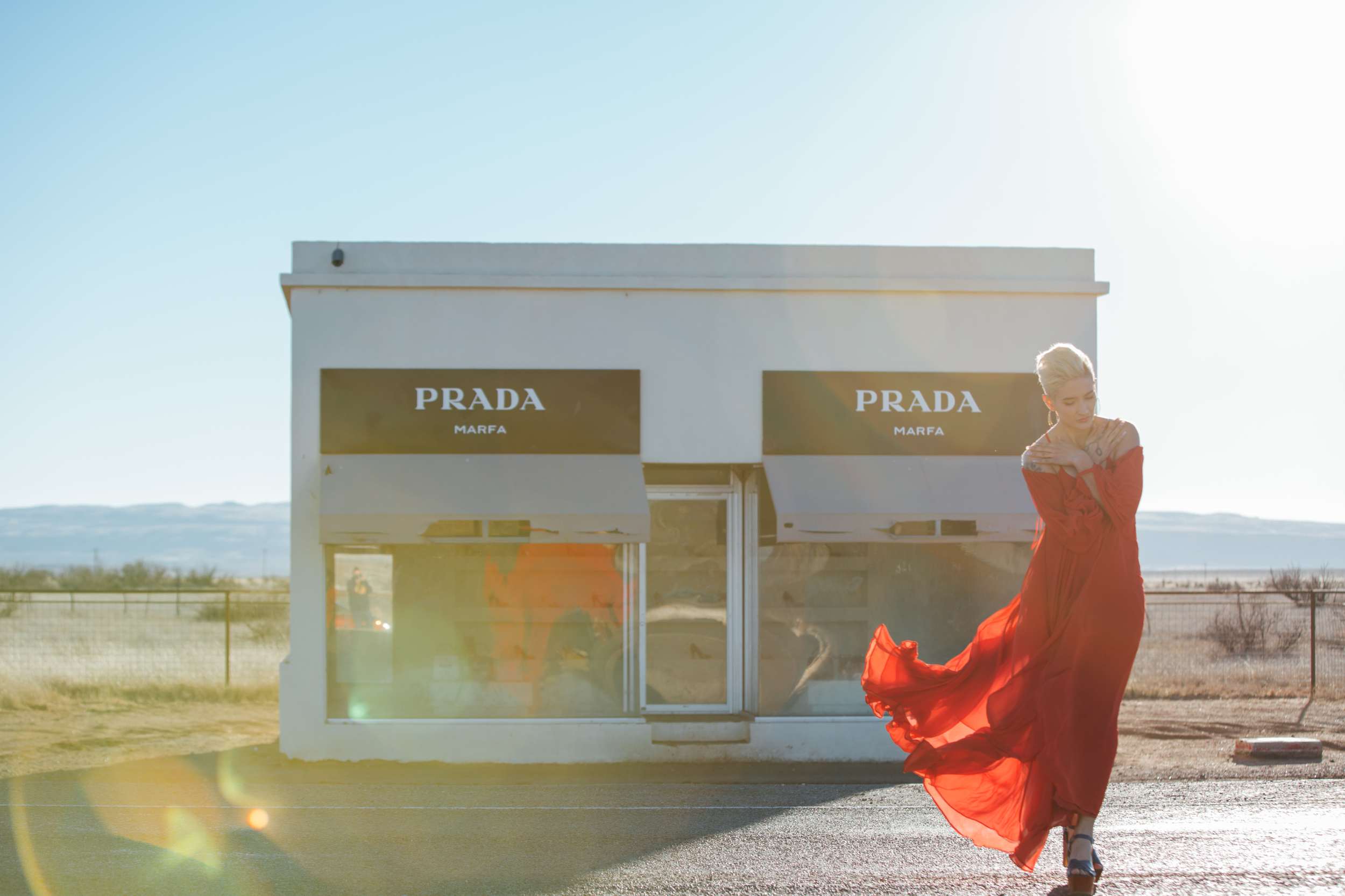 Prada Marfa Fashion Lifestyle Photoshoot with The Finches