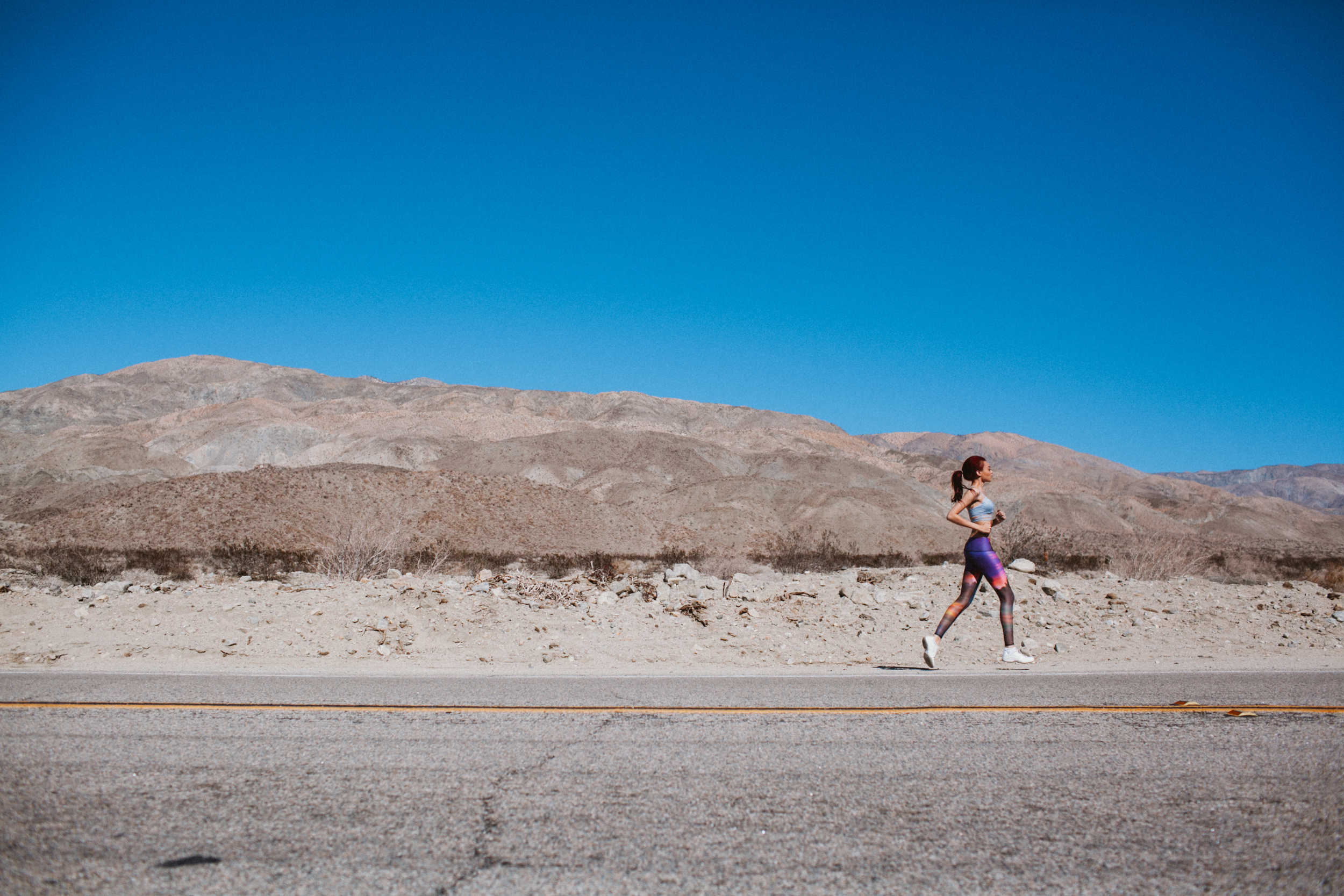 Lifestyle Photography Running in Palm Springs by The Finches
